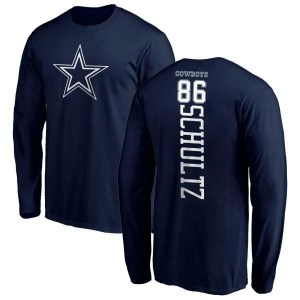 Dalton Schultz Dallas Cowboys Men's Navy Branded Backer Long Sleeve T-Shirt -