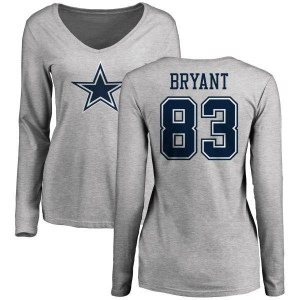 Ventell Bryant Dallas Cowboys Women's by Name & Number Logo Long Sleeve T-Shirt - Ash