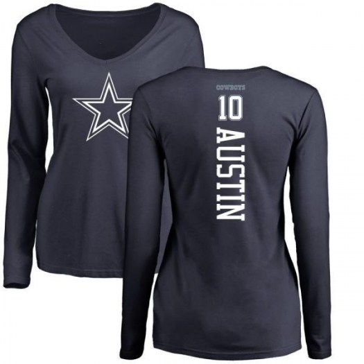 Tavon Austin Dallas Cowboys Women's Navy Pro Line by Branded Backer Long Sleeve T-Shirt -