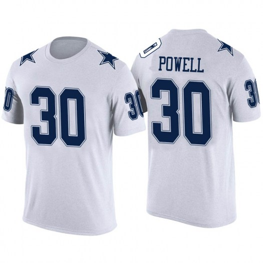 Tyvis Powell Dallas Cowboys Youth Legend White Color Rush T-Shirt