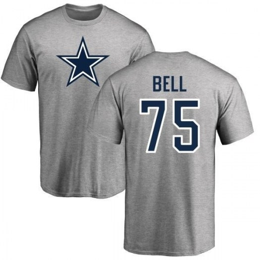 Byron Bell Dallas Cowboys Youth Gray Pro Line Name & Number Logo T-shirt -
