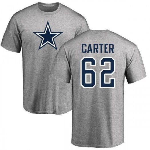 Ruben Carter Dallas Cowboys Youth Gray Pro Line Name & Number Logo T-shirt -